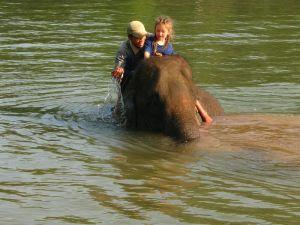 Céleste sur son éléphant
