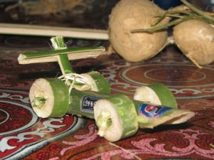 Petite voiture de bamboo