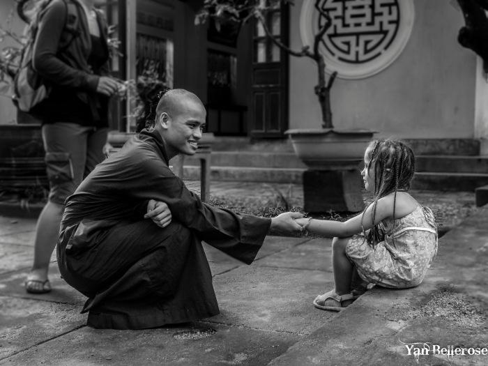 Rencontre avec un moine à Hué