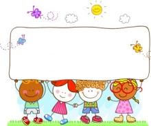 stock-illustration-13636906-happy-children-holding-banner-in-nature