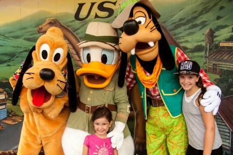 Pluto, Donald et Goofy