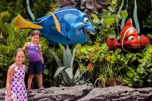 Céleste et Corail avec Nemo et Doris