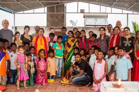 Enfants et amis lors du Deepam
