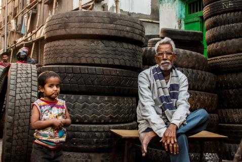 Un homme et ses pneus