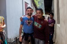 Avec le chef du village
