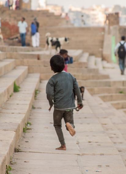 Enfant qui court