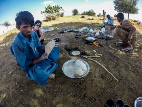 Cuisine dans le désert
