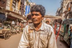 Un conducteur de Rickshaw