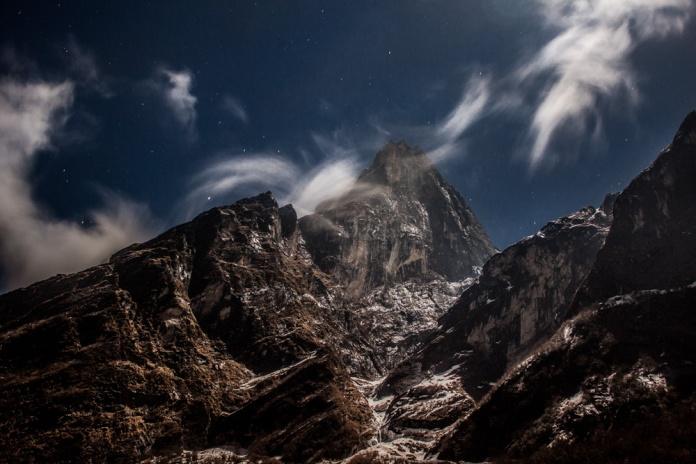Montagne la nuit