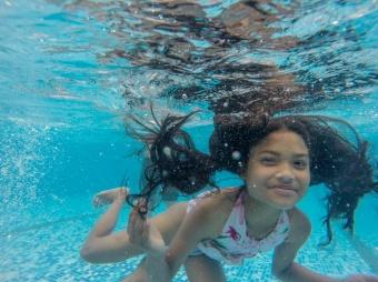 Ashmita sous l'eau