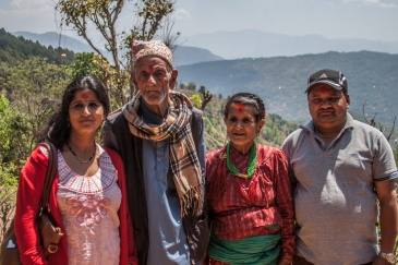 Bimalha, ses parents et Rajendra