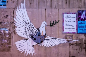 The Armoured Dove - by Bansky